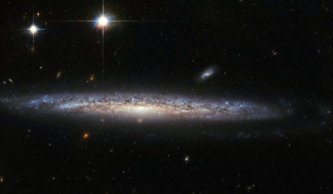 Hubble-Aufnahme der Spiralgalaxie NGC 5714. (Credits: ESA / Hubble & NASA)