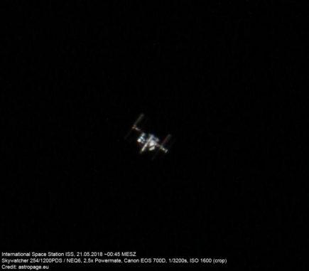 ISS, 21.05.2018 (Credit: astropage.eu)