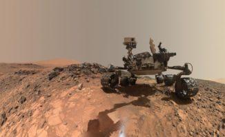 Selbstportrait des Mars-Rovers Curiosity. (Credits: NASA / JPL-Caltech / MSSS)