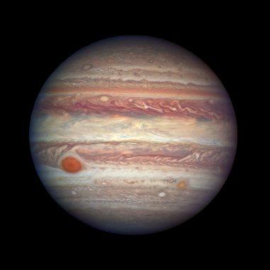 Der Gasriese Jupiter, aufgenommen vom Weltraumteleskop Hubble. (Credits: NASA, ESA, and A. Simon (NASA Goddard))