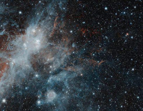 Spitzer-Aufnahme des Supernova-Überrests HBH 3. (Credits: NASA / JPL-Caltech / IPAC)