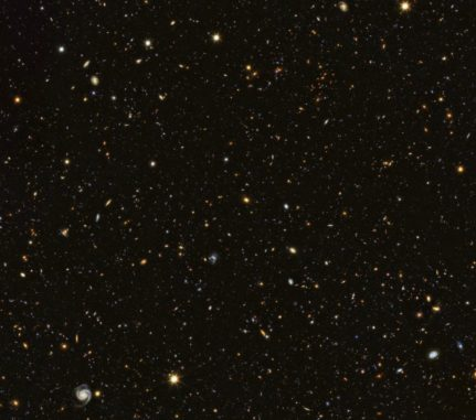 Hubble-Aufnahme des GOODS North Field. (Credits: ESA / Hubble & NASA)