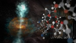 Illustration der neuen Entdeckungen des ALMA-Teleskops. (Credits: NRAO / AUI / NSF, S. Dagnello)