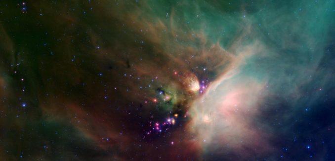 Spitzer-Aufnahme der Rho-Ophiuchi-Dunkelwolke, einer Sternentstehungsregion. (Credits: NASA / JPL-Caltech / Harvard-Smithsonian CfA)