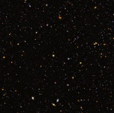 Das GOODS South Field, basierend auf Daten des Weltraumteleskops Hubble. (Credits: ESA / Hubble & NASA)
