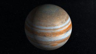 Künstlerische Darstellung Jupiters anhand Daten der Raumsonde Juno. (Credits: NASA / JPL / SwRI)