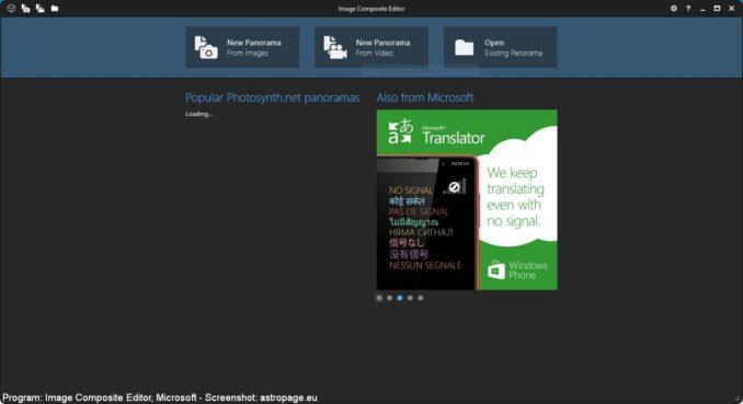 Image Composite Editor - Screenshot 1 (astropage.eu)