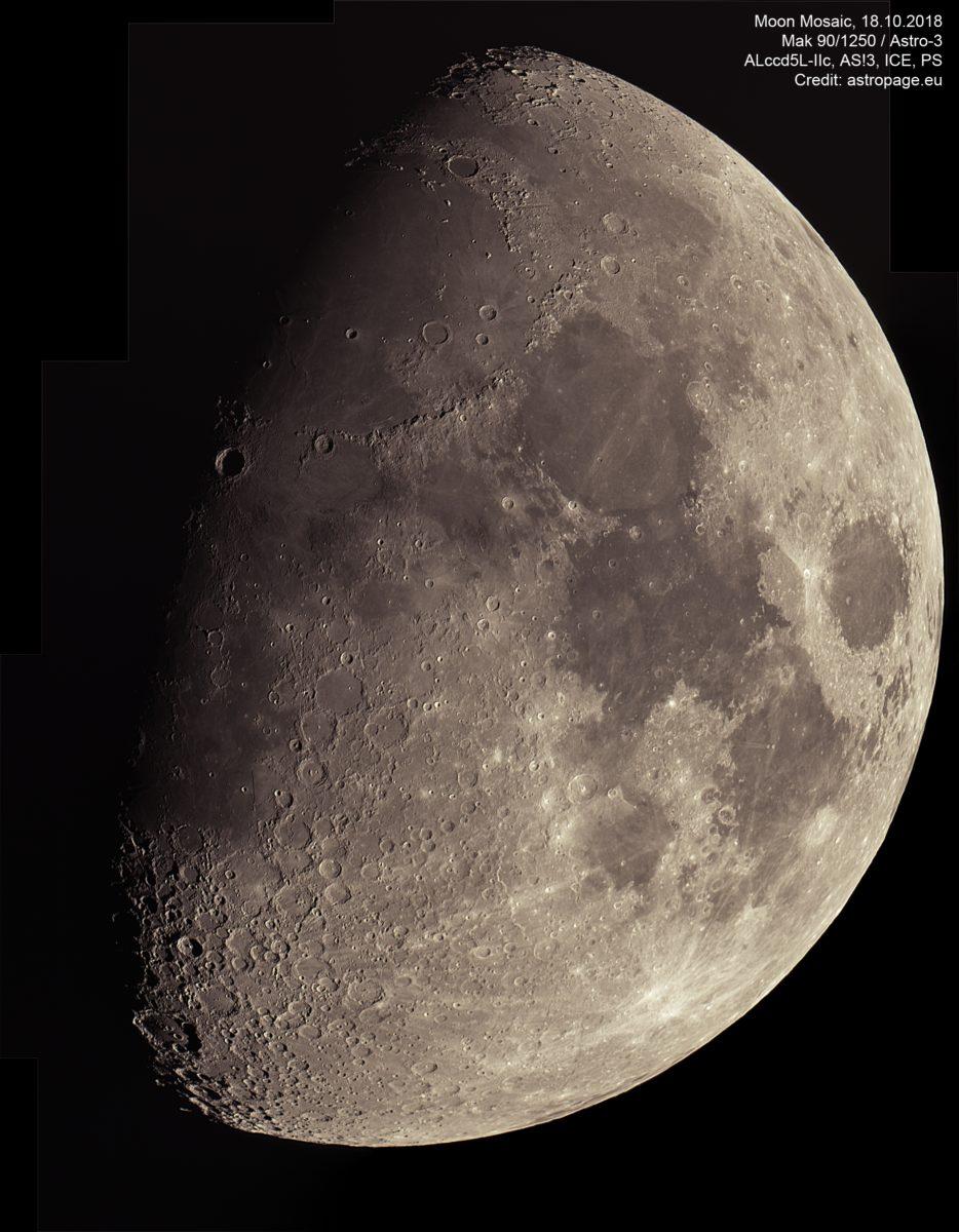 Mond Mosaik, 18.10.2018. (Credit: astropage.eu)