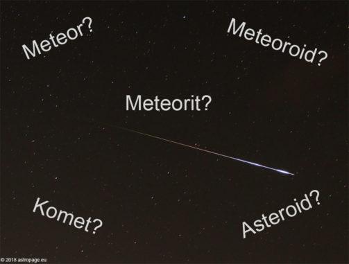 Ein Meteor des Perseiden-Meteorstroms, verursacht von einem kleinen Meteoroiden. (Credit: astropage.eu)