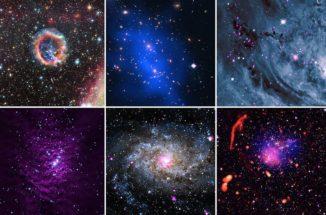 """Kosmische """"Leckereien"""" von Chandra und anderen Teleskopen. Beschreibungen siehe Text. (Credits: NASA / CXC / SAO)"""