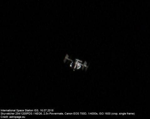 Titelbild: Die Internationale Raumstation ISS. (Credits: astropage.eu)