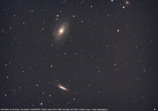 Titelbild: Die Galaxien M81 und M82. (Credits: astropage.eu)