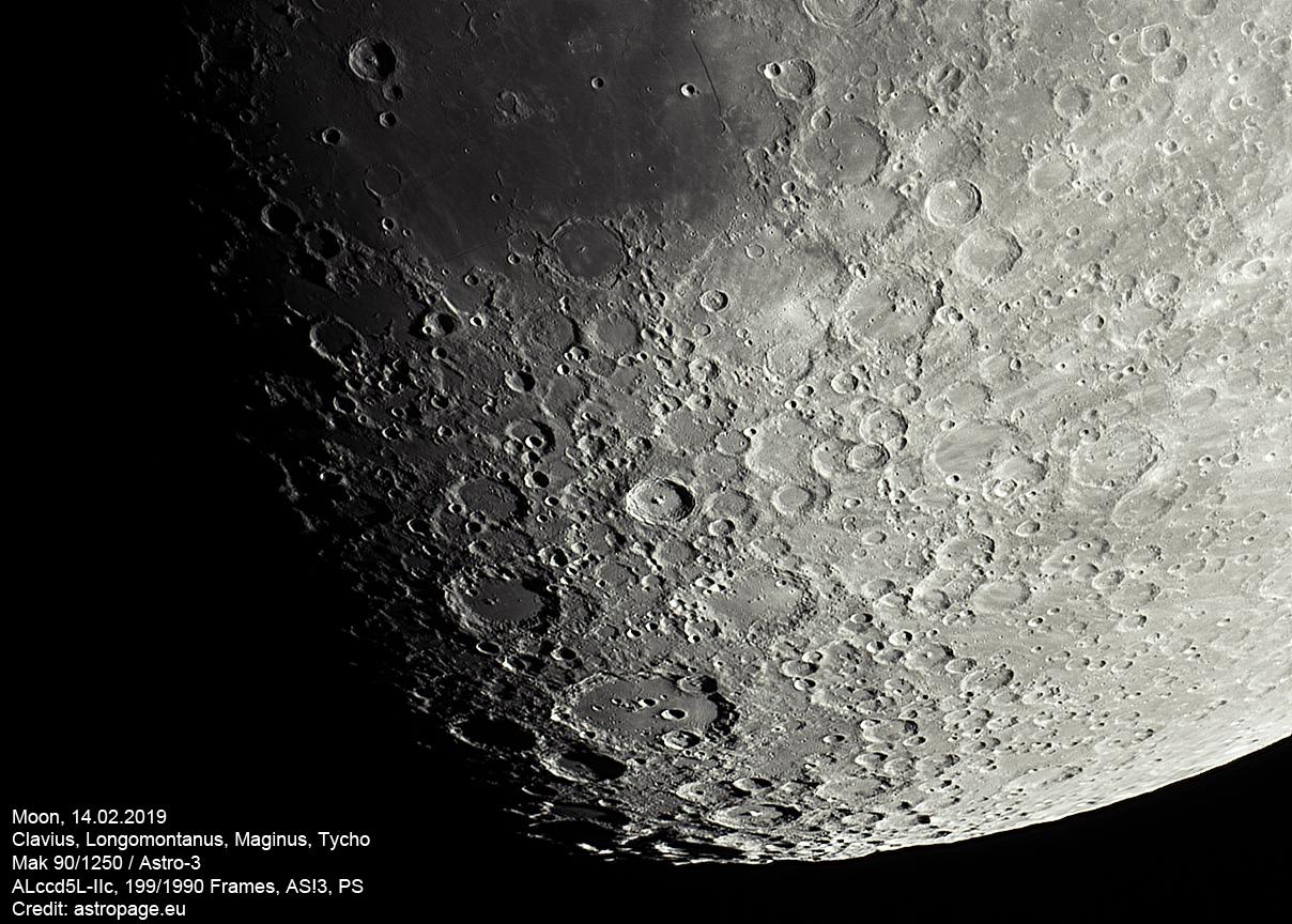 Mond-Details, 14.02.2019. (Credits: astropage.eu)