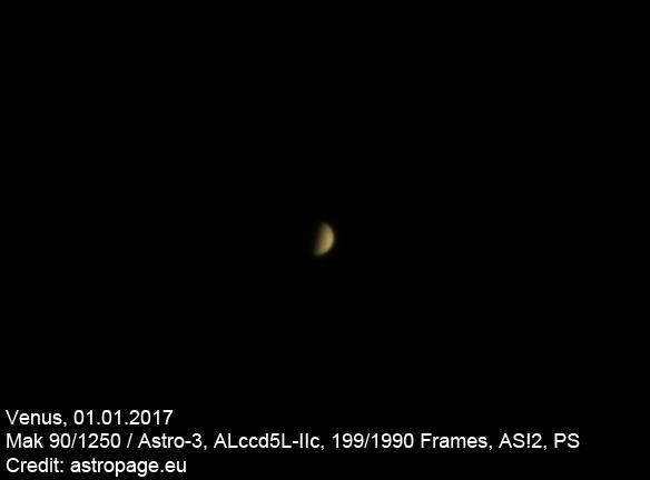 Titelbild: Die Phasengestalt der Venus. (Credits: astropage.eu)
