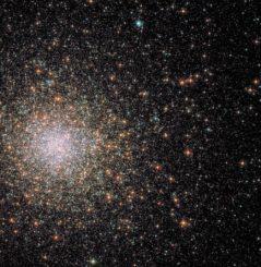 Hubble-Aufnahme des Kugelsternhaufens Messier 62. (Credits: ESA / Hubble & NASA, S. Anderson et al.)