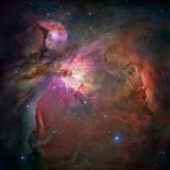 Der untersuchte Stern Orion Source I befindet sich im Orionnebel, hier aufgenommen vom Weltraumteleskop Hubble. (Credits: NASA, ESA, M. Robberto (Space Telescope Science Institute / ESA) and the Hubble Space Telescope Orion Treasury Project Team)