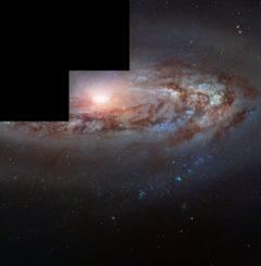 Hubble-Aufnahme der Spiralgalaxie Messier 90. (Credits: ESA / Hubble & NASA, W. Sargent et al.)