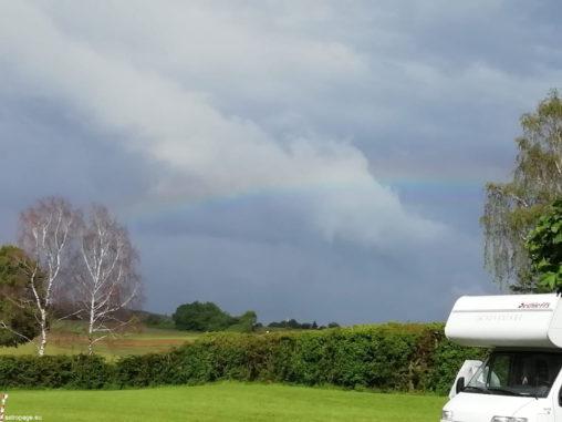 Regenbogen auf dem ITV 2019 in Gedern. (Credits: astropage.eu)