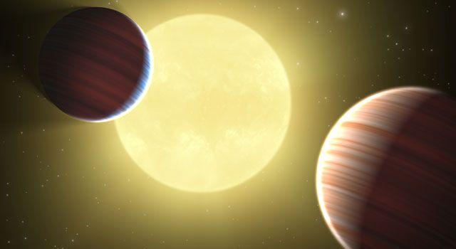 Künstlerische Darstellung des Systems Kepler-9 und zweier Planeten. (Credits: NASA, Jet Propulsion Laboratory / California Institute of Technology, Ames Research Center)