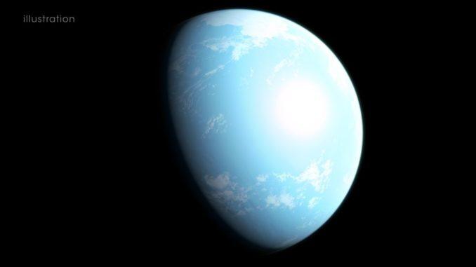 Diese Illustration zeigt eine Interpretation des Exoplaneten GJ 357d (Credits: NASA's Goddard Space Flight Center / Chris Smith)