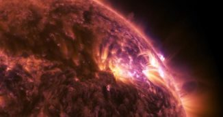 Ein von der NASA aufgezeichneter Sonnenflare. (Credits: NASA)