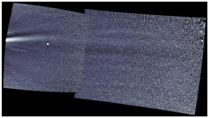 Beobachtungen des WISPR-Instruments an Bord der Parker Solar Probe (siehe Video unten). (Credits: NASA / Naval Research Laboratory / Parker Solar Probe)