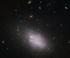 Hubble-Aufnahme der Zwerggalaxie UGC 685. (Credits: ESA / Hubble & NASA; the LEGUS team, B. Tully, D. Calzetti; Acknowledgement(s): Judy Schmidt (Geckzilla))