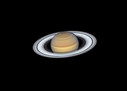 Saturn, aufgenommen vom Weltraumteleskop Hubble am 20. Juni 2019. (Credits: NASA, ESA, A. Simon (GSFC), M.H. Wong (University of California, Berkeley) and the OPAL Team)