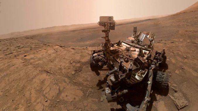 Curiosity untersucht alte Sedimentgesteine auf dem Mars. (Credits: NASA)