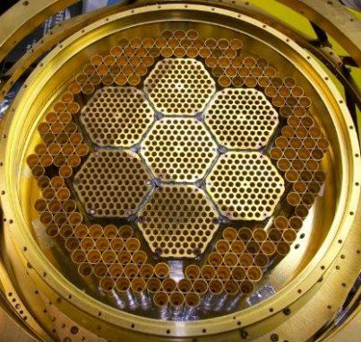 Der Kern des STPpol-Instruments am South Pole Telescope. (Credits: SPT collaboration; DOE)