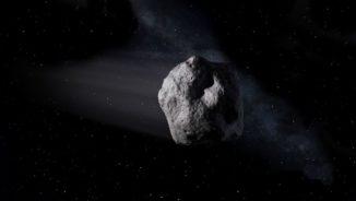 Künstlerische Darstellung eines erdnahen Asteroiden. (Credits: NASA / JPL-Caltech)