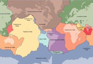Die tektonischen Platten der Erde. (Credits: USGS)