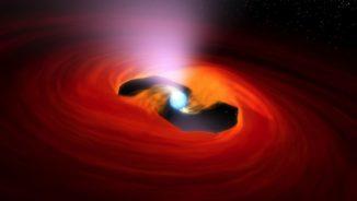 Künstlerische Darstellung eines ultraleuchtkräftigen Röntgenpulsars. (Credits: NASA / JPL-Caltech)