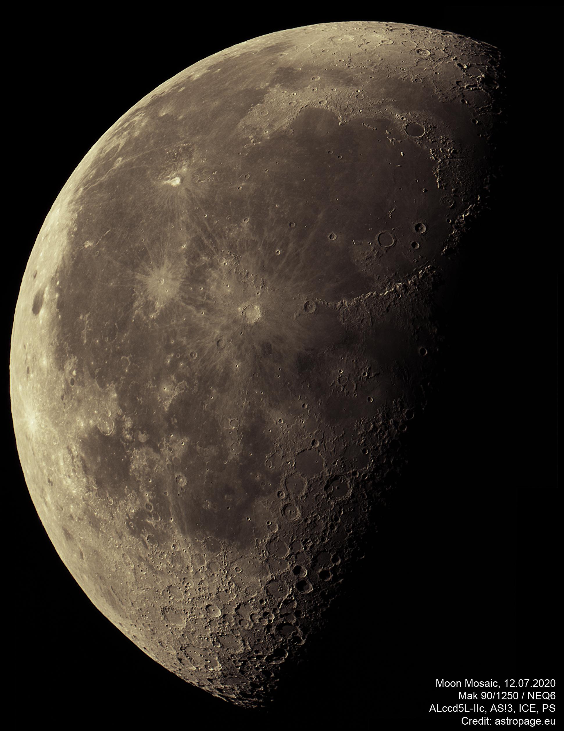 Mond-Mosaik, aufgenommen am 12. Juli 2020. (Credits: astropage.eu)