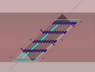 Schematischer Aufbau des vorgeschlagenen milliQan-Detektors. (Credits: Image: The milliQan collaboration)