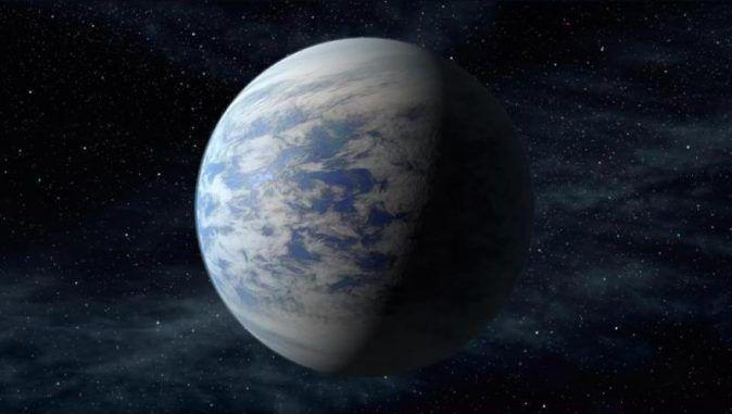 Illustration der Supererde Kepler-69c. (Credits: NASA Ames / JPL-Caltech)