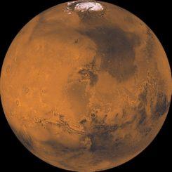 Der Mars ist einer von mehreren Orten im Sonnensystem, wo man nach Hinweisen auf mikrobielle Lebensformen suchen will. (Credits: NASA / JPL / USGS)