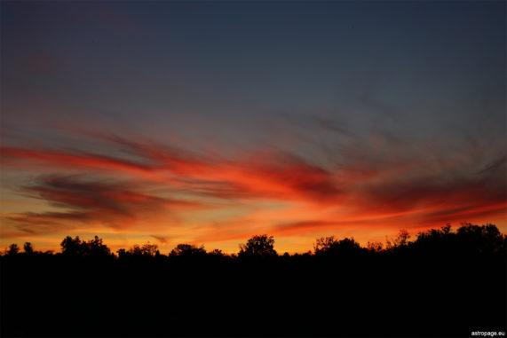 Sonnenuntergang in Gedern. (Credits: astropage.eu)