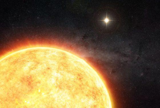 Künstlerische Darstellung eines potenziellen Begleiters der Sonne. (Credit: M. Weiss)