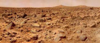 Die Twin Peaks, aufgenommen von Mars Pathfinder am 4. Juli 1997. (Credits: NASA / JPL)