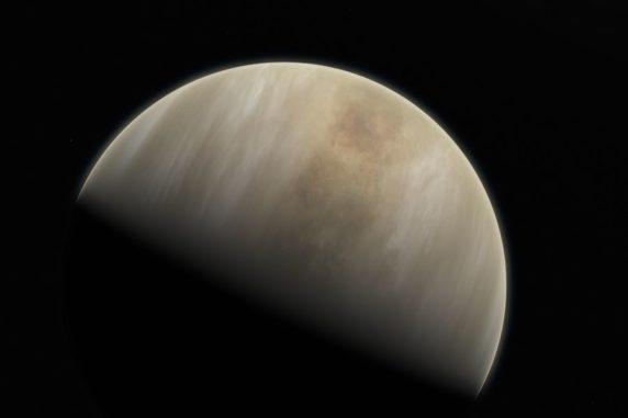 Künstlerische Darstellung der Venus. (Credits: Image: ESO (European Space Organization) / M. Kornmesser & NASA / JPL / Caltech)