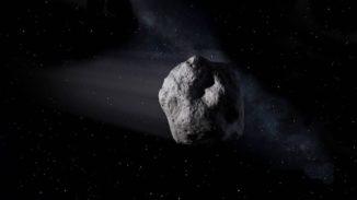 Illustration des kleinen, erdnahen Asteroiden 2020 SW im Weltraum. (Credits: NASA / JPL-Caltech)