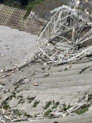 Ein Teil der abgestürzten Instrumentenplattform am Arecibo Observatory. (Credits: University of Central Florida)