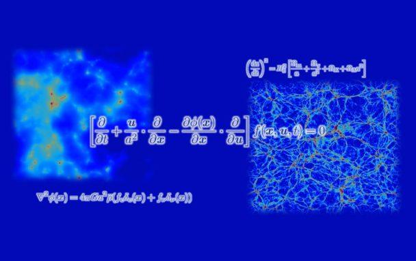 Simulationen von großräumigen Strukturen und die zugrundeliegenden Gleichungen. (Credits: University of Tsukuba)