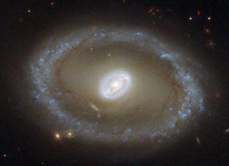 Ein optisches Bild der Seyfert-Galaxie NGC 3081, aufgenommen vom Weltraumteleskop Hubble. )Credits: NASA / Hubble)