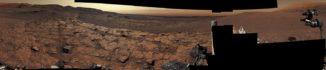 Ein neues Panoramabild vom Gale-Krater, aufgenommen vom Marsrover Curiosity. (Credits: NASA / JPL-Caltech / MSSS)