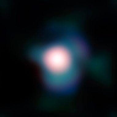Der Riesenstern Beteigeuze, aufgenommen vom Very Large Telescope (VLT) der Europäischen Südsternwarte. (Credits: ESO and P. Kervella)