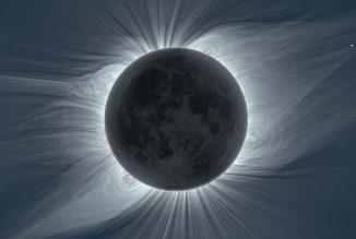 Die Sonnenkorona, aufgenommen während der totalen Sonnenfinsternis am 21. August 2017 in Mitchell (Oregon). (Credits: Boe, Habbal, Druckmüller, Ding, Hodérova, & Štarha, Astrophysical Journal, 888, 100, (Jan. 10, 2020))