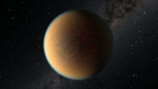 Künstlerische Darstellung des erdgroßen Gesteinsplaneten GJ 1132b. (Credits: NASA, ESA, and R. Hurt (IPAC / Caltech))