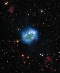Hubble-Aufnahme des Necklace Nebula. (Credit: ESA / Hubble & NASA, K. Noll)